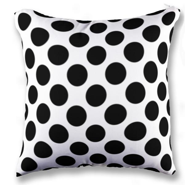 Jual bantal polkadot black white print bantal sofa kotak full print custom ciptaloka com