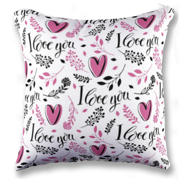 Jual Bantal Bantal I Love You - Print Bantal Sofa Kotak (Full-Print) Custom | Ciptaloka.com