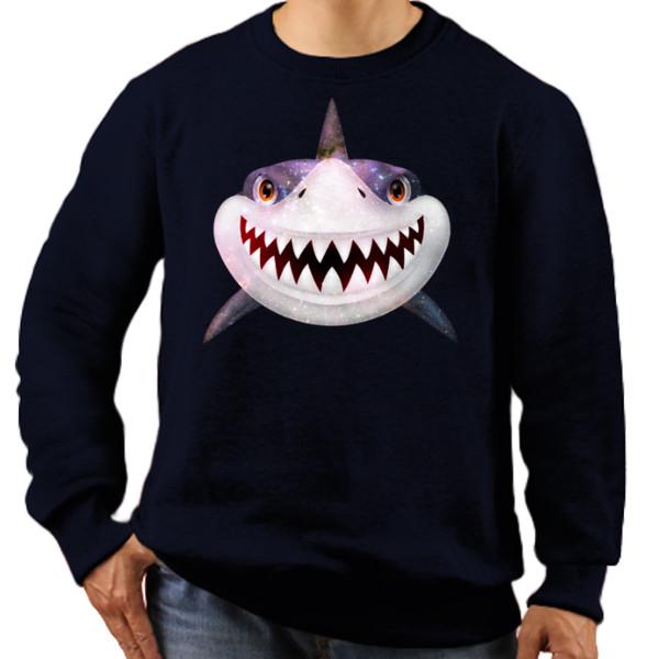 Jual Jaket Sweater Ikan Hiu Model Kaos 2018 Print Sweater Pria