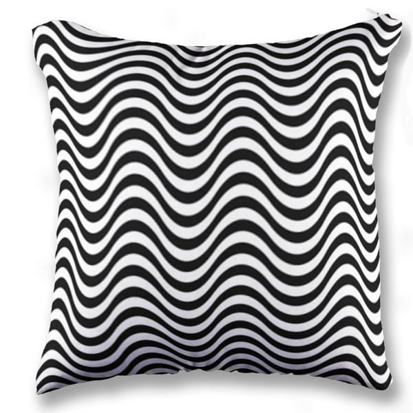 Jual bantal wave black white print bantal sofa kotak full print custom ciptaloka com