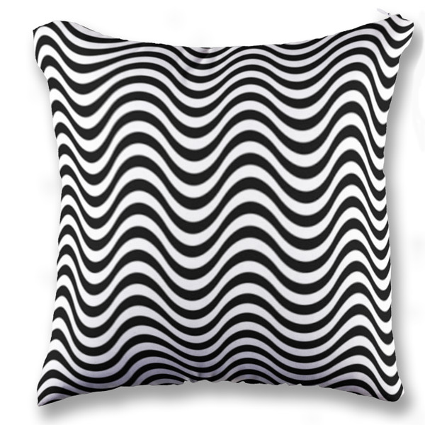 Jual bantal wave black white print bantal sofa kotak full print custom ciptaloka com