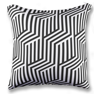 Jual Bantal Garis Abstrak Print Bantal Sofa Kotak Full Print