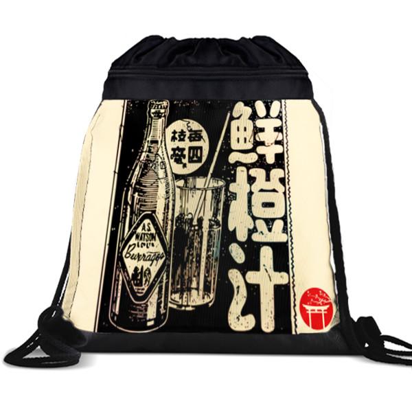 Jual Tas Serut Iklan Minuman Jepang Print Tas Serut Drawstring