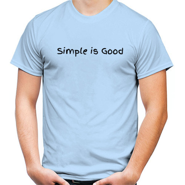 Jual Kaos Simple Is Good Print Kaos Pria Redmango Custom