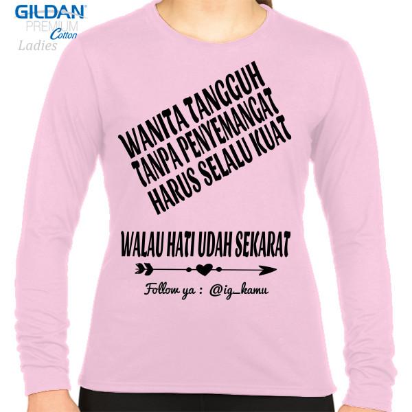 Jual Kaos Kata Kata Galau Print Kaos Lengan Panjang Wanita